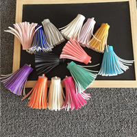 Dekorative Quaste, PU Leder, keine, 60mm, 10PCs/Tasche, verkauft von Tasche