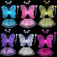 Kinder Kostüm zu inszenieren, Organza, mit Seidenspinnerei & Messing, Schmetterling, keine, 50x40cm, verkauft von setzen