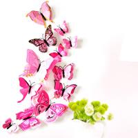 Kühlschrankmagnete, Weich-PVC, mit Magnetische Hämatit, Schmetterling, hochrot, 60-120mm, 12PCs/Tasche, verkauft von Tasche