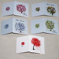 Grußkarte, Papier, gemischt, 70x80mm, 100PCs/Tasche, verkauft von Tasche