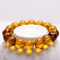 Kristall Armbänder, rund, verschiedene Größen vorhanden, Topas, Länge:ca. 7 ZollInch, 3SträngeStrang/Tasche, verkauft von Tasche