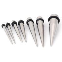 Edelstahl Piercing Durchstich, mit Silikon, unisex & verschiedene Größen vorhanden, originale Farbe, 2PCs/Menge, verkauft von Menge