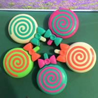 Kunststoff Kontakt Objektiv-Fall, mit Glas, Bonbons, gemischte Farben, 95x69x24mm, 5PCs/Tasche, verkauft von Tasche