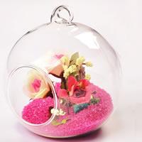 Glaskugel, Glas, rund, transparent, 80mm, 5PCs/Tasche, verkauft von Tasche