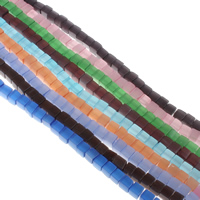 Cats Eye Perlen Schmuck, Katzenauge, Würfel, gemischte Farben, 6x6mm, Bohrung:ca. 1mm, Länge:ca. 15.5 ZollInch, 10SträngeStrang/Tasche, ca. 66PCs/Strang, verkauft von Tasche