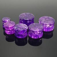 Art und Weise Piercing Tunnel, Kristall, Rondell, verschiedene Größen vorhanden & Knistern, 2PCs/Tasche, verkauft von Tasche