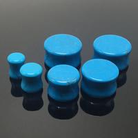 Art und Weise Piercing Tunnel, Synthetische Türkis, Rondell, verschiedene Größen vorhanden, blau, 2PCs/Tasche, verkauft von Tasche