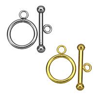 Edelstahl Knebelverschluss, plattiert, keine, 16x21x2mm, 8x25x4mm, Bohrung:ca. 3mm,3mmmm, verkauft von Menge