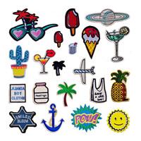 Nähen-auf Patch, Stoff, Stickerei, verschiedene Stile für Wahl & mit Brief Muster, 30SetsSatz/Menge, 10PCs/setzen, verkauft von Menge