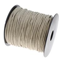 Wachsschnur, Gewachsten Baumwollkordel, mit Kunststoffspule, beige, 2mm, ca. 90WerftenHof/Spule, verkauft von Spule