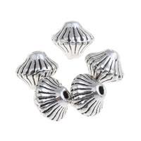 Zinklegierung Kegel Perlen, Doppelkegel, antik silberfarben plattiert, frei von Blei & Kadmium, 7x6mm, Bohrung:ca. 1mm, 100G/Tasche, verkauft von Tasche