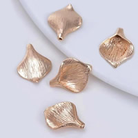 24K Gold Perlen, Messing, Ginkgo-Blatt, 24 K vergoldet, frei von Blei & Kadmium, 13.5x17.5mm, Bohrung:ca. 1-2mm, 20PCs/Tasche, verkauft von Tasche