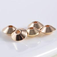 24K Gold Perlen, Messing, 24 K vergoldet, frei von Blei & Kadmium, 6x3mm, Bohrung:ca. 1mm, 20PCs/Tasche, verkauft von Tasche