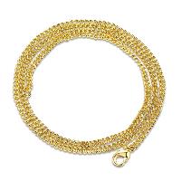 Newegg® Schmuck Halskette, Eisen, 18 K vergoldet, unterschiedliche Länge der Wahl & Twist oval & für Frau, frei von Nickel, Blei & Kadmium, verkauft von Strang