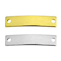 Edelstahl Schmuckverbinder, Rechteck, plattiert, 1/1-Schleife, keine, 23x5x1mm, Bohrung:ca. 1.5mm, verkauft von Menge