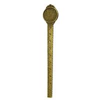 Zinklegierung Lesezeichen Zubehöre, Lineal, antike Bronzefarbe plattiert, frei von Nickel, Blei & Kadmium, 23.50x132x2.50mm, Innendurchmesser:ca. 20mm, 50PCs/Menge, verkauft von Menge