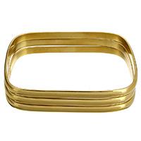 Edelstahl -Armband -Set, goldfarben plattiert, für Frau, 5x2mm, Innendurchmesser:ca. 70x51mm, Länge:ca. 9 ZollInch, 3PCs/setzen, verkauft von setzen
