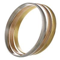 Edelstahl -Armband -Set, plattiert, für Frau, 8x2mm, Innendurchmesser:ca. 67mm, Länge:ca. 9 ZollInch, 3PCs/setzen, verkauft von setzen