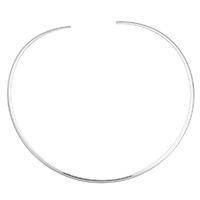 Kragen Halskette, Edelstahl, für Frau, originale Farbe, 3x2mm, Innendurchmesser:ca. 133mm, Länge:ca. 16 ZollInch, verkauft von PC