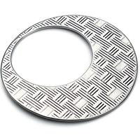Edelstahl Verbindungsring, Kreisring, Schwärzen, originale Farbe, 33mm, Bohrung:ca. 20mm, 5PCs/Tasche, verkauft von Tasche