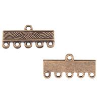 Zinklegierung Schmuckverbinder Stange, antike Kupferfarbe plattiert, 1/5-Schleife, frei von Blei & Kadmium, 21x13x2mm, Bohrung:ca. 1mm, 100G/Tasche, verkauft von Tasche