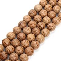 Holzperlen, Holz, rund, verschiedene Größen vorhanden, originale Farbe, Bohrung:ca. 2mm, verkauft per ca. 25 ZollInch Strang