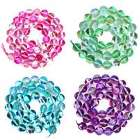 Mode Glasperlen, Glas, rund, transparent & verschiedene Größen vorhanden & zweifarbig, keine, Bohrung:ca. 1mm, verkauft per ca. 15.5 ZollInch Strang