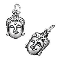 Buddhische Schmuck Anhänger, Thailand, Buddha, buddhistischer Schmuck, 10.50x18x8mm, Bohrung:ca. 5mm, verkauft von PC