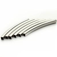 Messing Rohr Perlen, Quadrat, Platinfarbe platiniert, frei von Nickel, Blei & Kadmium, 2x40mm, Bohrung:ca. 2mm, 30PCs/Tasche, verkauft von Tasche