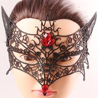 Gothic Augenmaske, Spitze, mit Organza & Kristall, für Frau & facettierte, frei von Nickel, Blei & Kadmium, 140mm, verkauft von PC