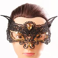 Gothic Augenmaske, Spitze, mit Kunststoff Pailletten & Nylonschnur & Kristall, für Frau & facettierte, frei von Nickel, Blei & Kadmium, 110mm, verkauft von PC