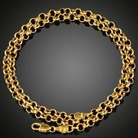 Messingkette Halskette, Messing, 18 K vergoldet, unisex & Rolo Kette, frei von Blei & Kadmium, 5mm, verkauft per ca. 19.5 ZollInch Strang