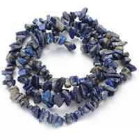 Synthetischer Lapislazuli Perlen, Klumpen, 5-8mm, Bohrung:ca. 1.5mm, ca. 120PCs/Strang, verkauft per ca. 31 ZollInch Strang