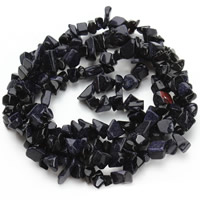 Blaue Goldstein Perlen, blauer Goldsand, Klumpen, 5-8mm, Bohrung:ca. 1.5mm, ca. 120PCs/Strang, verkauft per ca. 31 ZollInch Strang