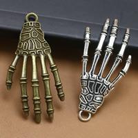Zinklegierung Hand Anhänger, Klaue, plattiert, keine, frei von Blei & Kadmium, 42x20mm, Bohrung:ca. 1.5mm, 100PCs/Tasche, verkauft von Tasche