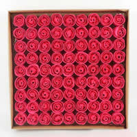 PE Schaumstoff Seife, Blume, rot, 40x30x30mm, 81PCs/Box, verkauft von Box