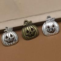 Art- und Weisehalloween-Anhänger, Zinklegierung, Kürbis, plattiert, Halloween Schmuck, keine, frei von Blei & Kadmium, 18x16x3mm, Bohrung:ca. 1.5mm, 100PCs/Tasche, verkauft von Tasche