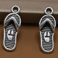 Zinklegierung Schuhe Anhänger, antik silberfarben plattiert, frei von Blei & Kadmium, 21x8mm, Bohrung:ca. 1.5mm, 100PCs/Tasche, verkauft von Tasche