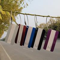 Aluminium Kofferanhänger, mit Papier & Stahldraht, Rechteck, Spritzlackierung, gemischte Farben, 80x40mm, 10PCs/Tasche, verkauft von Tasche