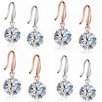 Österreichischer Kristall Ohrring, Messing, mit Österreichischer Kristall, plattiert, facettierte, keine, frei von Nickel, Blei & Kadmium, 8mm, verkauft von Paar