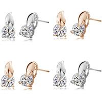 Österreichischer Kristall Ohrring, Messing, mit Österreichischer Kristall, plattiert, facettierte, keine, frei von Nickel, Blei & Kadmium, 9x9mm, verkauft von Paar