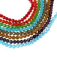 Runde Kristallperlen, Kristall, facettierte, mehrere Farben vorhanden, 8mm, Bohrung:ca. 1mm, Länge:ca. 17 ZollInch, 10SträngeStrang/Tasche, ca. 72PCs/Strang, verkauft von Tasche