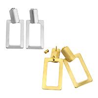 Edelstahl Tropfen Ohrring, Rechteck, plattiert, keine, 21.50x49x13mm, 10PaarePärchen/Menge, verkauft von Menge