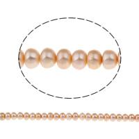 Lagerluft Süßwasser Perlen, Natürliche kultivierte Süßwasserperlen, Barock, natürlich, Rosa, 8-9mm, Bohrung:ca. 0.8mm, verkauft per ca. 16 ZollInch Strang