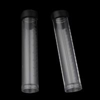 Glas Wunschflasche, Kunststoff, Zylinder, 20x105mm, 5PCs/Tasche, verkauft von Tasche