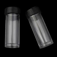 Glas Wunschflasche, Kunststoff, Zylinder, 20x57mm, 10PCs/Tasche, verkauft von Tasche