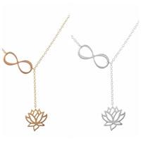 Buddhistischer Schmuck Halskette, Messing, Lotus, plattiert, Lariat Stil & Oval-Kette, keine, frei von Nickel, Blei & Kadmium, 450mm, verkauft per ca. 17.5 ZollInch Strang
