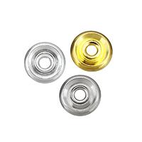 Messing Zwischenperlen, flache Runde, plattiert, keine, frei von Nickel, Blei & Kadmium, 6x6x2.50mm, Bohrung:ca. 1.5mm, 500PCs/Menge, verkauft von Menge