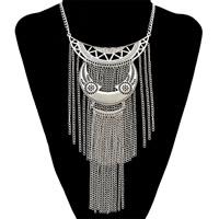Mode-Fringe-Halskette, Zinklegierung, mit Verlängerungskettchen von 3.1lnch, plattiert, Twist oval & für Frau, frei von Nickel, Blei & Kadmium, 240mm, verkauft per ca. 16.1 ZollInch Strang