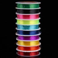 Kristall Faden, mit Kunststoffspule, elastisch & verschiedene Größen vorhanden, gemischte Farben, 10Spulen/Tasche, verkauft von Tasche